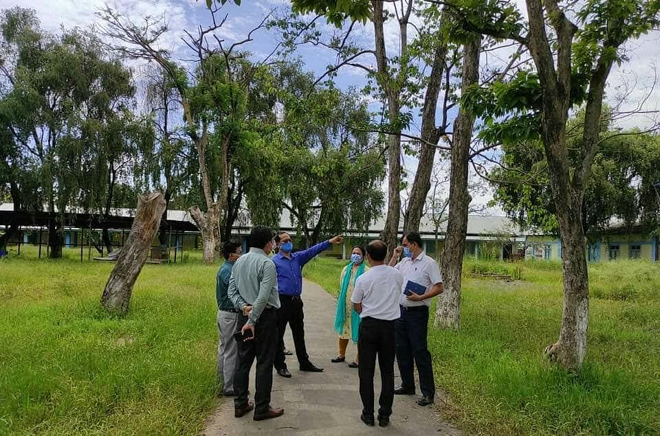 State officials inspecting new site for COVID-19 Care Center in Thoubal district