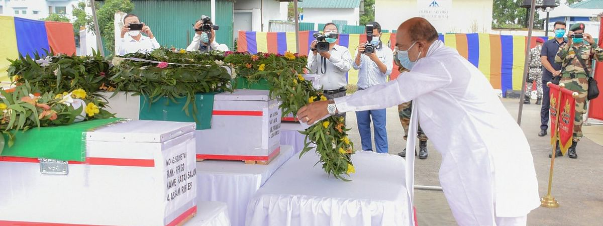 CM N Biren Singh paid tribute to martyrs of Assam Rifles on Friday