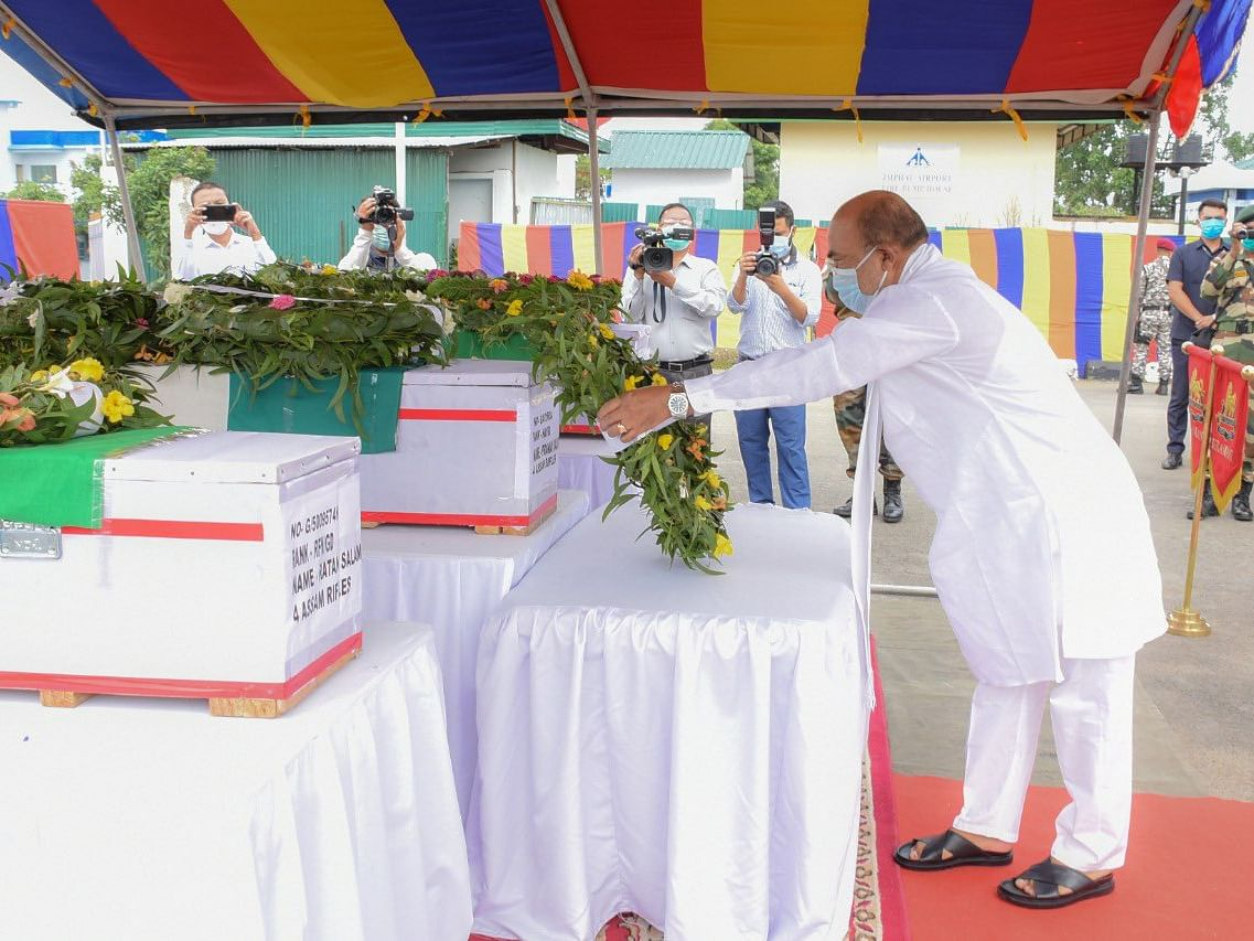 Manipur CM pays tributes to Assam Rifles martyrs; vows to retaliate