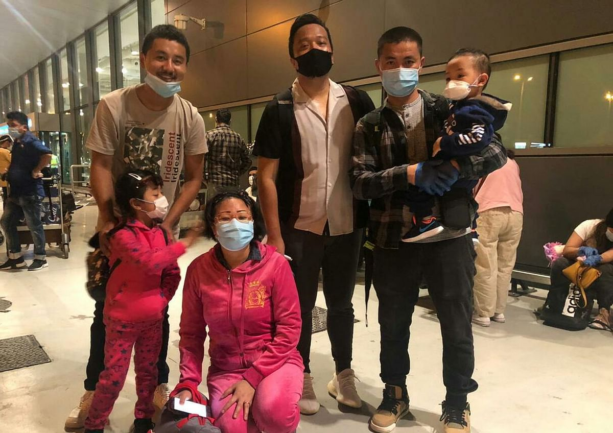 A Tangkhul family with two kids stranded in Dubai was among the 189 passengers