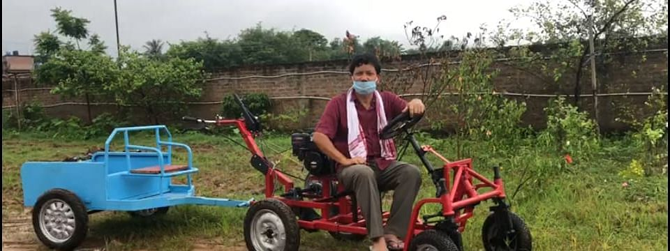 Serial innovator Kanak Gogoi came up with a unique, easy to use multipurpose tractor
