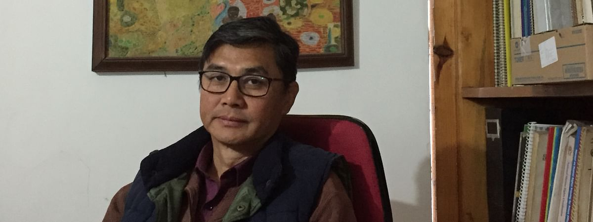 Human Rights Alert (HRA) executive director Babloo Loitongbam in Imphal