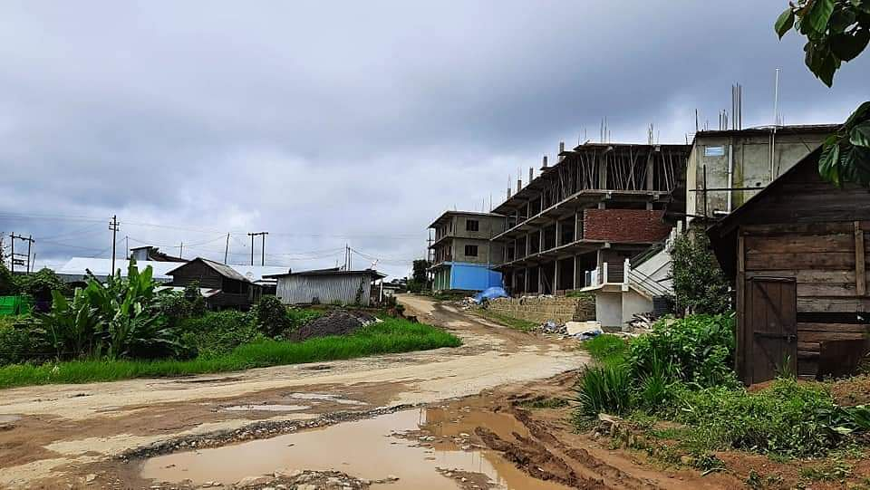 Deserted look at Dungrei locality at Hungpung village in Ukhrul district