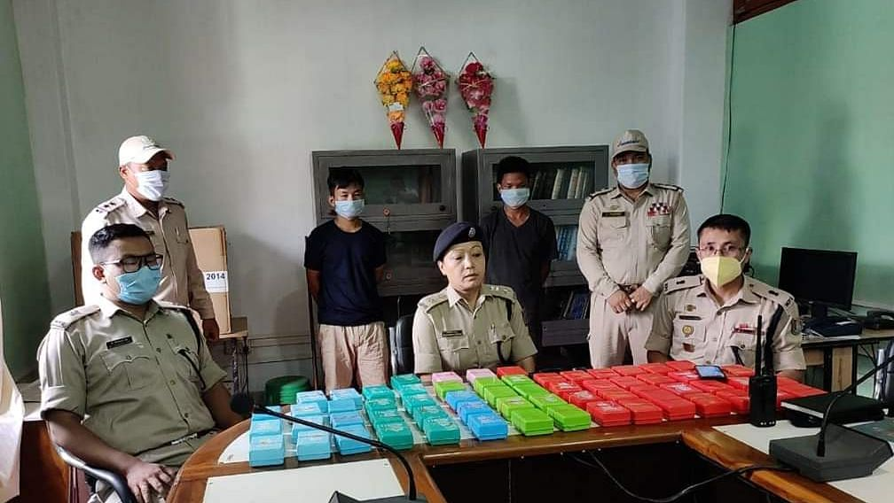 Two individuals were arrested in Bishnupur district by the police