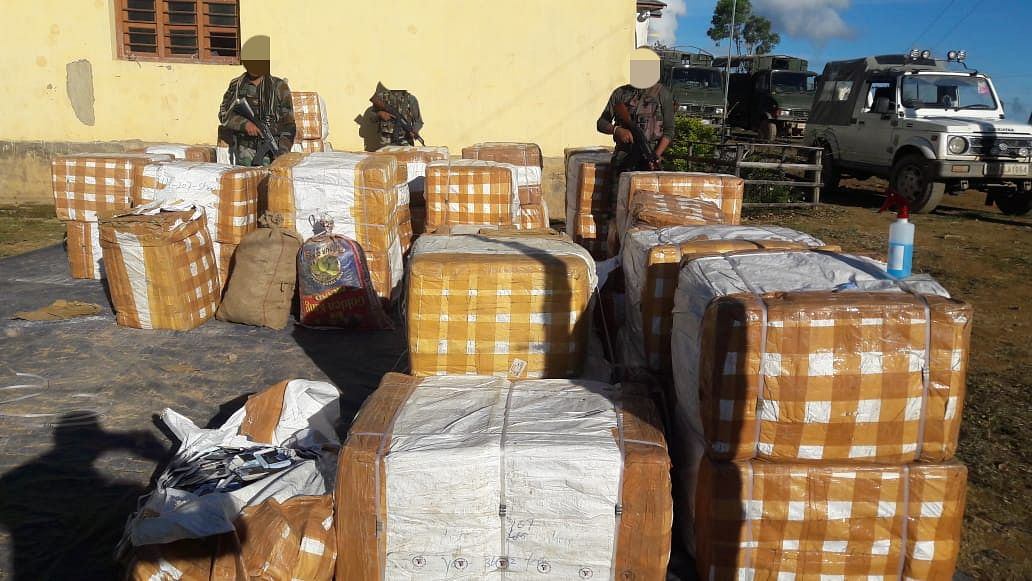 The recovered contraband items are worth Rs 1.6 crore in Manipur