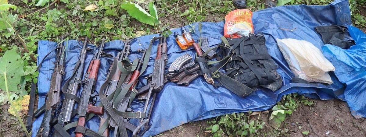 Six weapons which include four AK-47 and two Chinese MQ were recovered