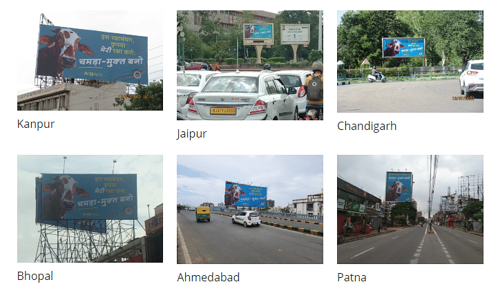 The billboard campaigns in Ahmedabad, Bhopal, Chandigarh, Jaipur, Kanpur, and Patna