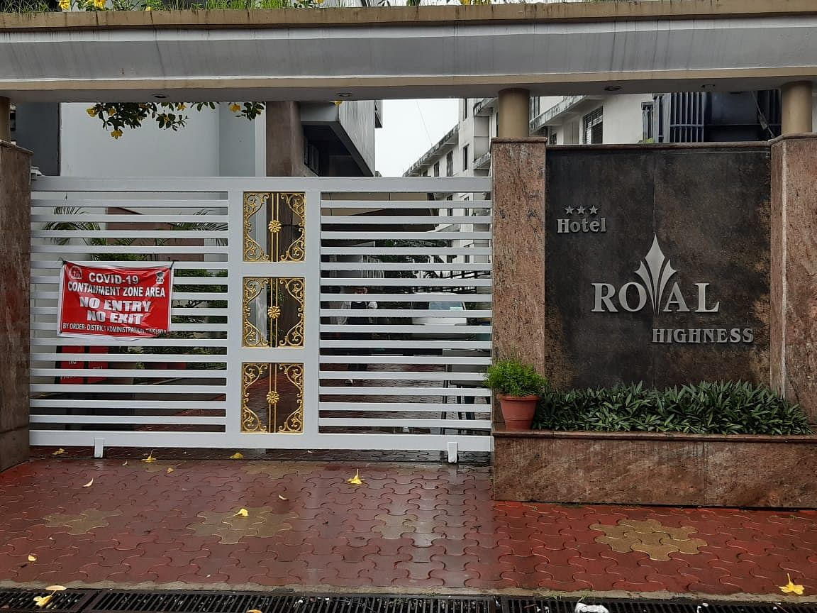 The hotel in Tinsukia which has been declared as a containment zone
