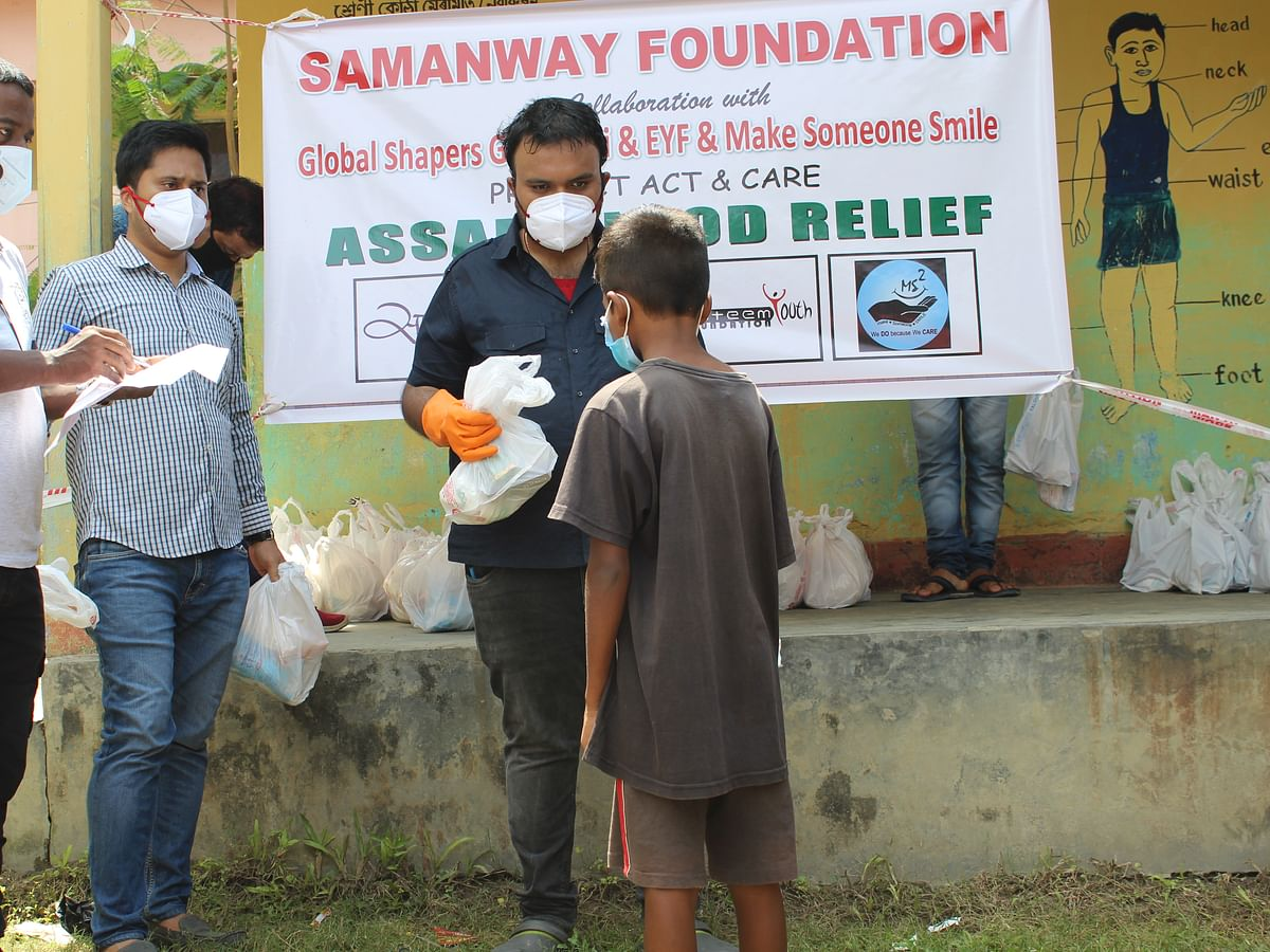 Assam floods: Relief kits focused on basic sanitisation distributed in Barpeta