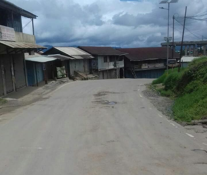 Locals in Ukhrul district of Manipur remained shut at home on Friday
