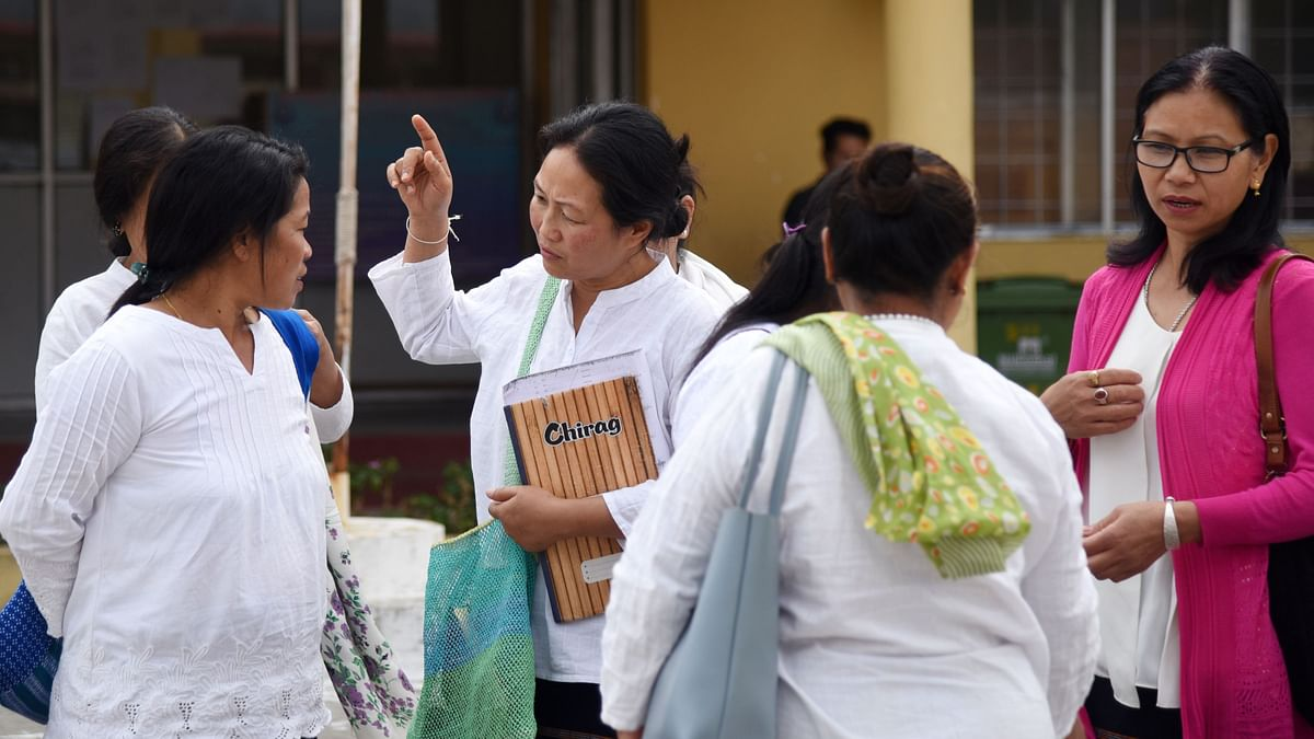Members of WASE attending District Court for hearing of a drug trafficking case in Pasighat