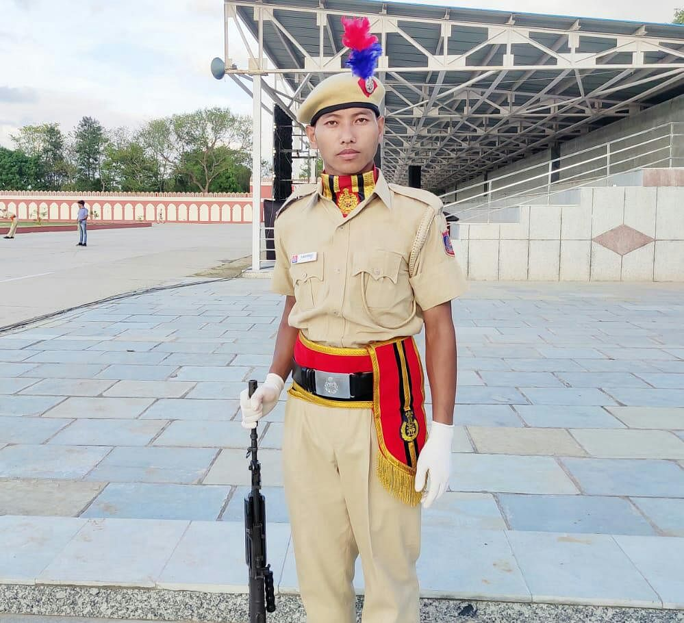 Newly recruited Delhi police constable Kavisou Lah from Manipur