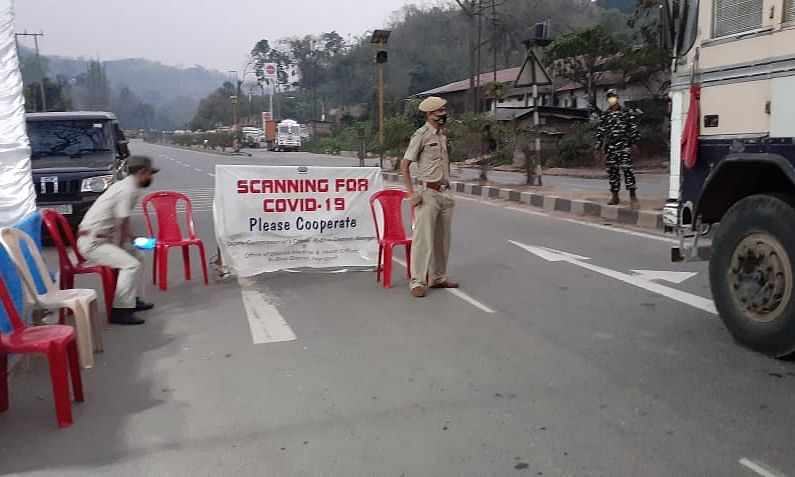 Frontline workers manning Byrnihat check-point
