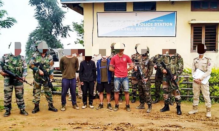 Four rebels of KYKL and PREPAK arrested in Kamjong district in Manipur