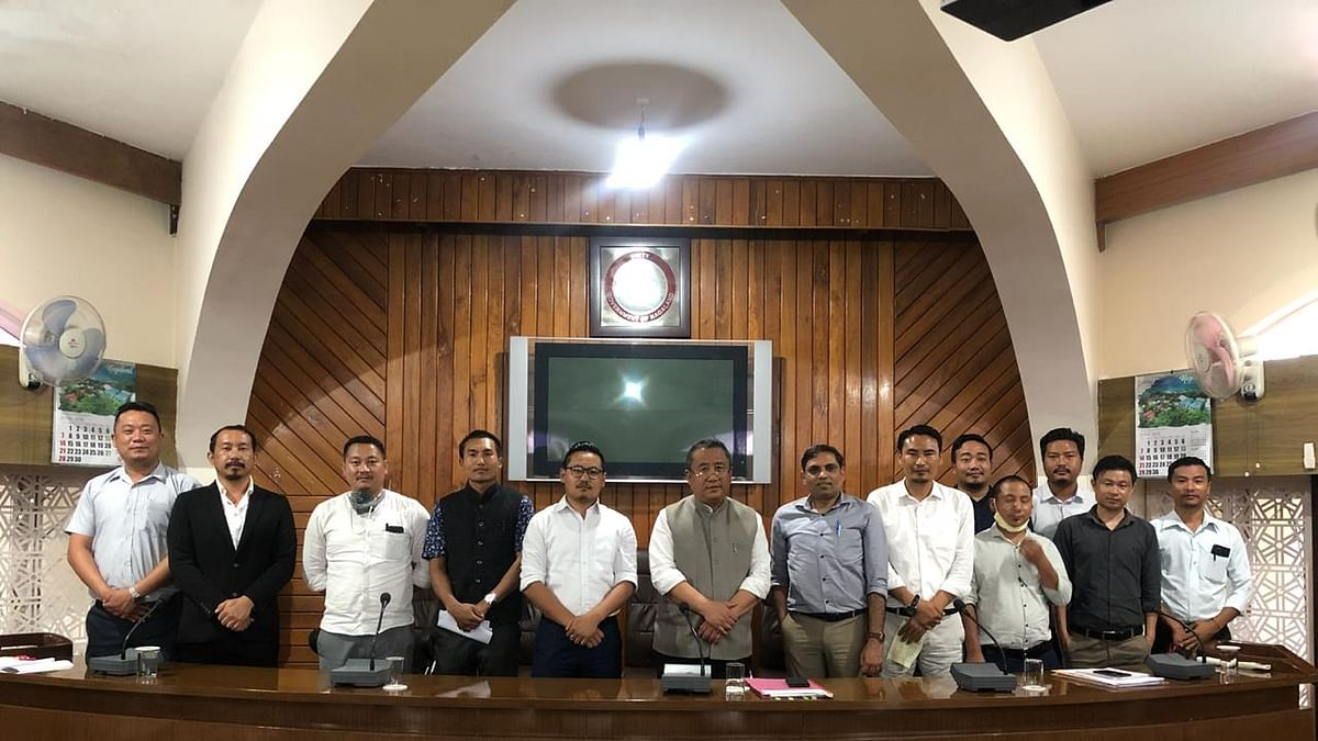 NSF and ENSF officials along with Nagaland chief Secretary Temjen Toy and other state officials