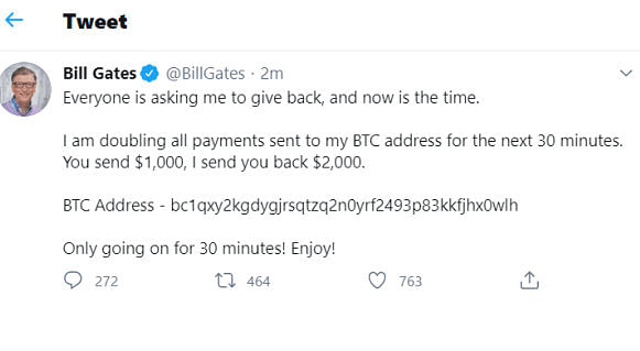 Bill Gates fake tweet