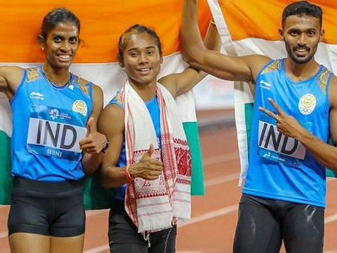 Hima Das' 2018 Asiad 4x400m mixed relay silver upgraded to gold