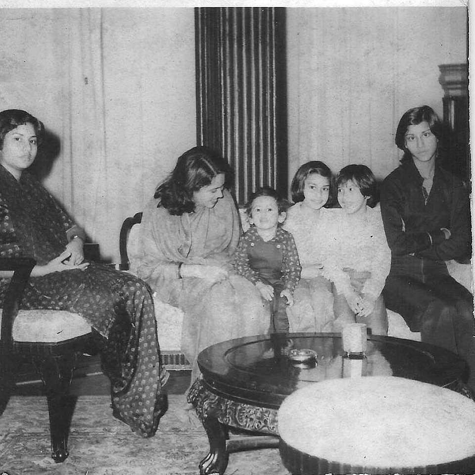 Young Pradyot along with his four elder sisters and mother