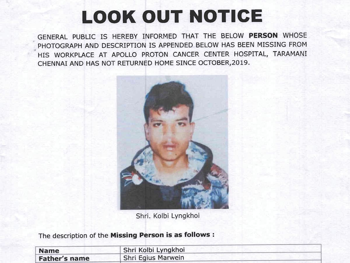 Meghalaya police in search of 22-year-old boy missing in Chennai