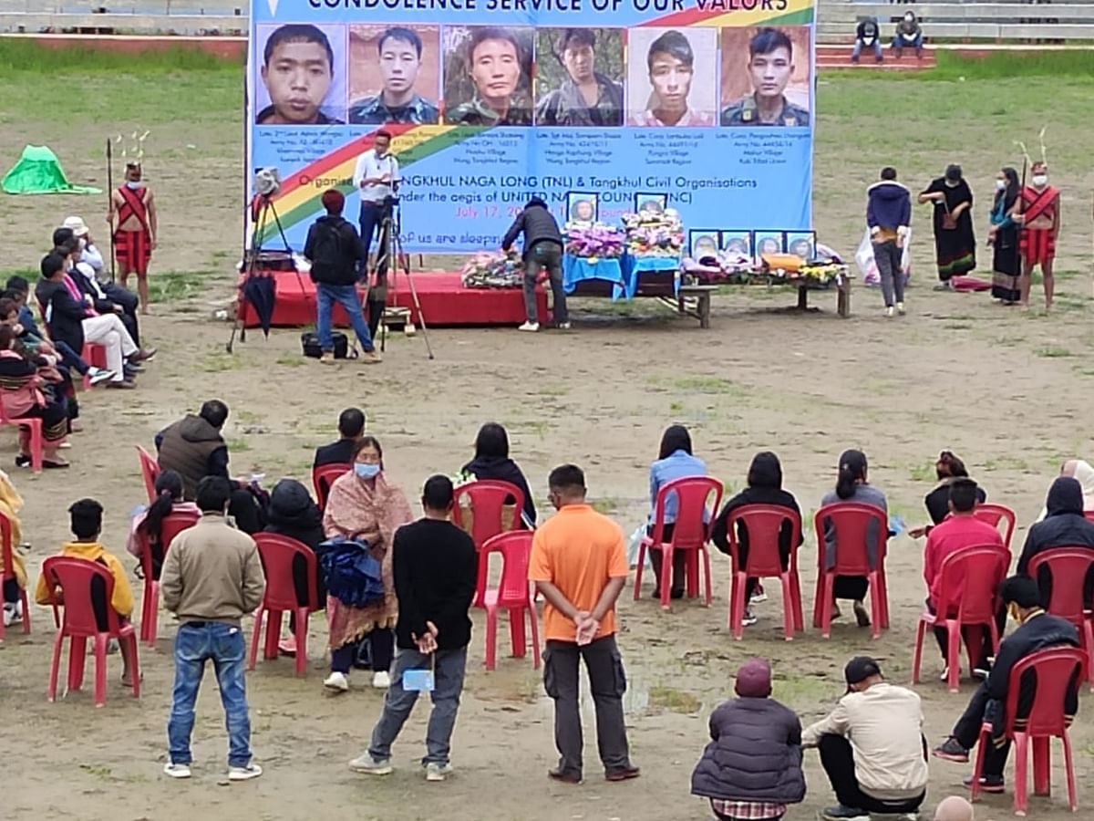 Condolence service was held at TNL ground in Ukhrul district on Friday