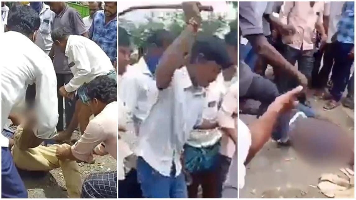 The cop in question can be seen pulling the hairs of the woman and even slaps her