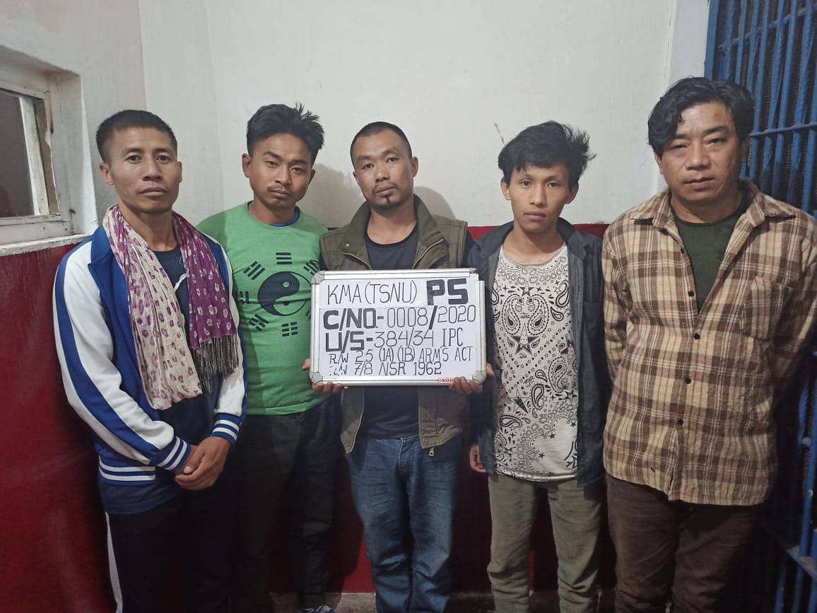 Two active cadres of NSCN(IM) and four other persons were apprehended