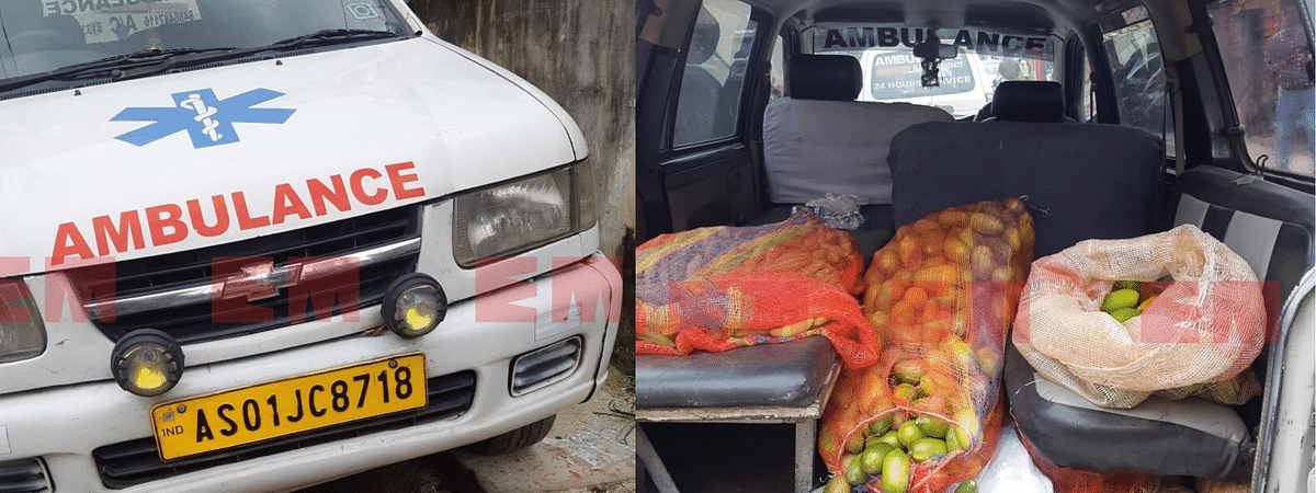 The ambulance was seized in front of Dispur Hospital in Guwahati's Ganeshguri area on Thursday
