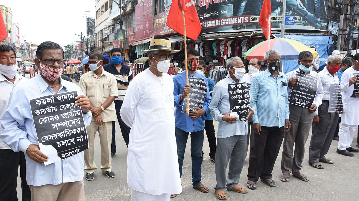 Tripura: Left Front stages protests across state over 6-point charter of demands