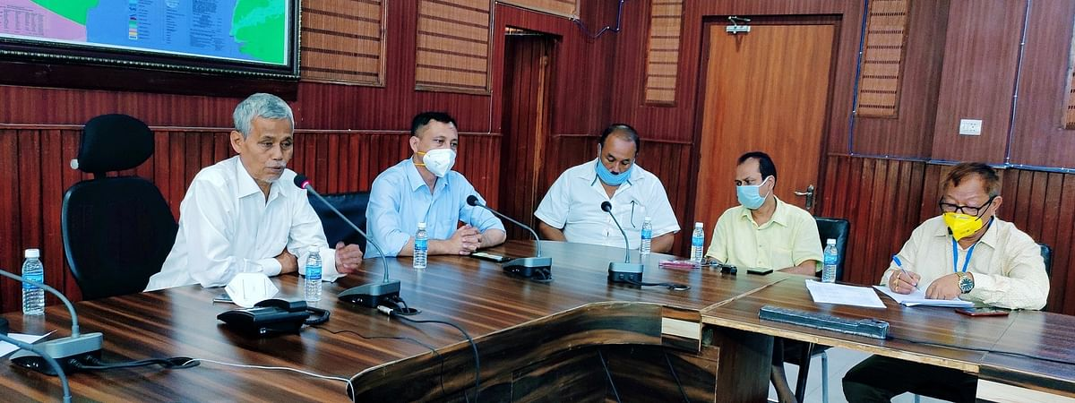 Assam minister for food and civil supplies, Phani Bhushan Choudhury (left); DC, Kamrup (Metro) Biswajit Pegu also took part in the meeting