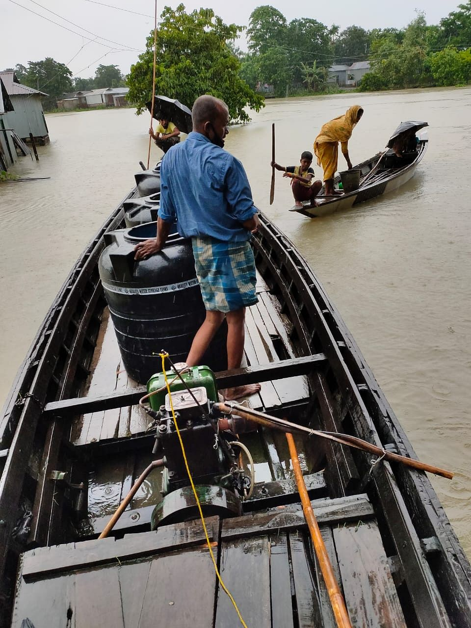 Houses in areas of West Garo Hills submerged in floods