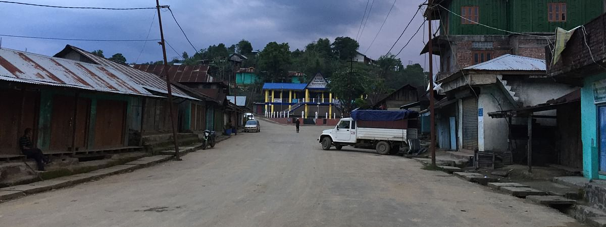 A deserted market at Tamei in Tamenglong district in Manipur