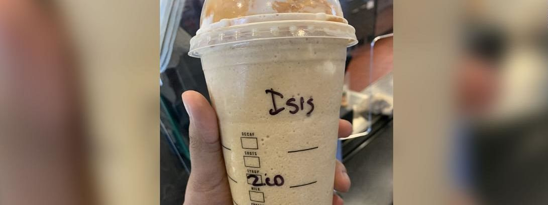 She was shocked and was emotionally hurt when she got the cup with 'ISIS' written on it