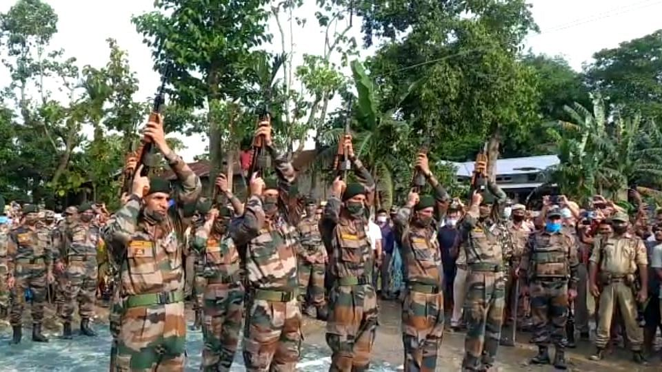Martyr Pranay Kalita of 4 Assam Rifles consigned to flames with full honors