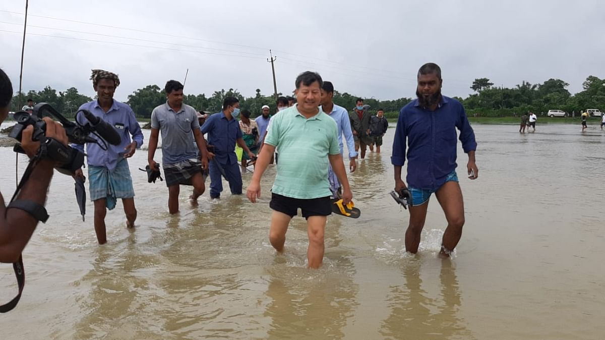 The flood and erosion have also created major problem for the people in Kokrajhar district