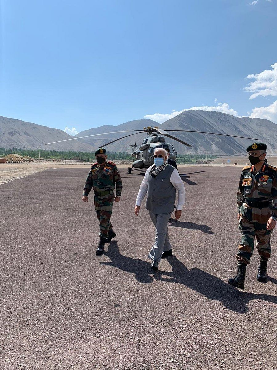 PM Narendra Modi at Ladakh
