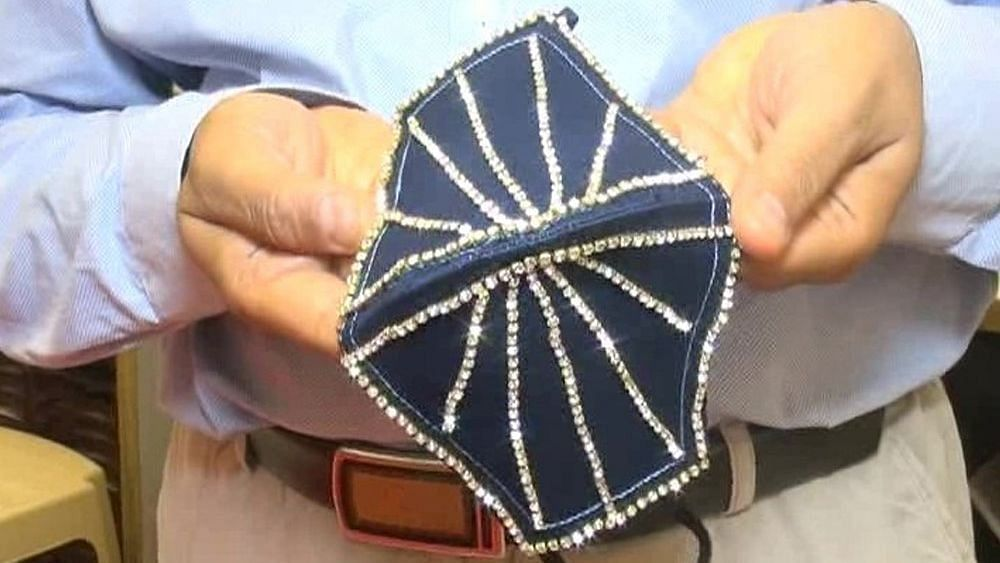Diamond-studded bejeweled masks worth lakhs are now for sale in Surat
