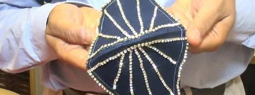 The idea for the diamond-studded mask came from a customer, said Dipak Choksi, the owner of the jewelry shop