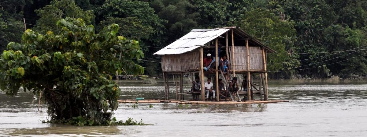 According to govt reports, over 24 lakh people have been affected by flood in Assam so far this year