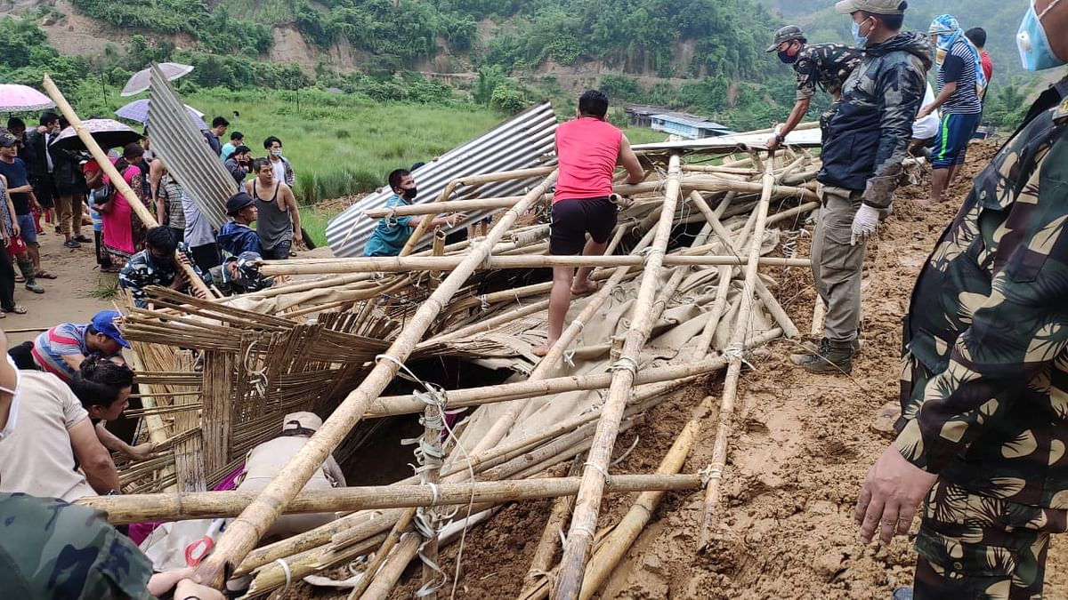 The landslide was trigger by incessant rainfall