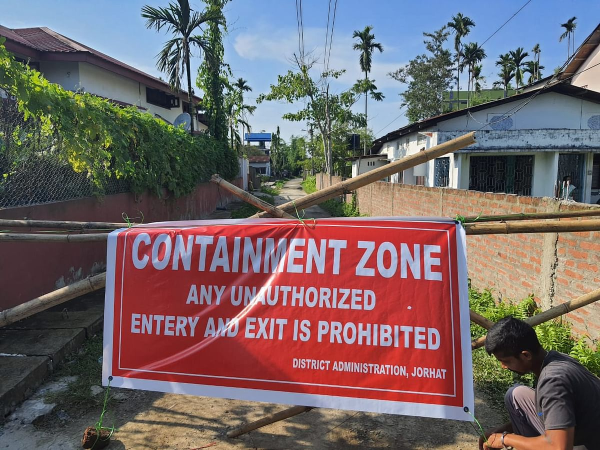 A containment zone in Jorhat