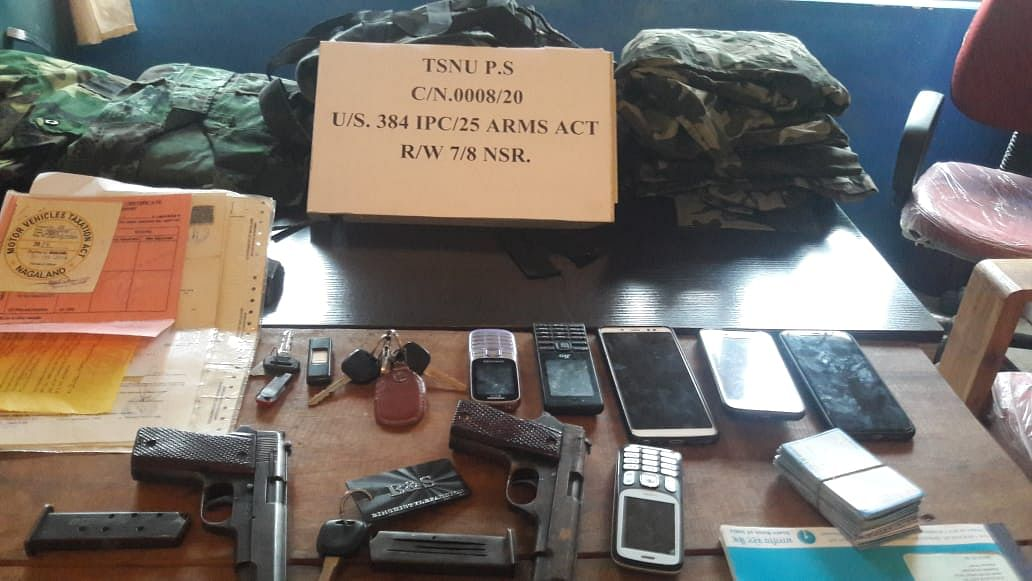 The items recovered from the accused