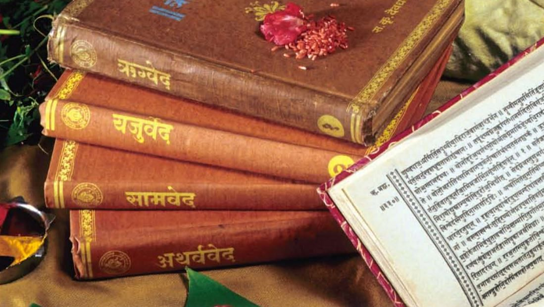 Shruti includes four Vedas, including its four types of embedded texts