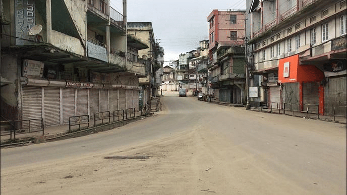 A deserted sight of Kohima town