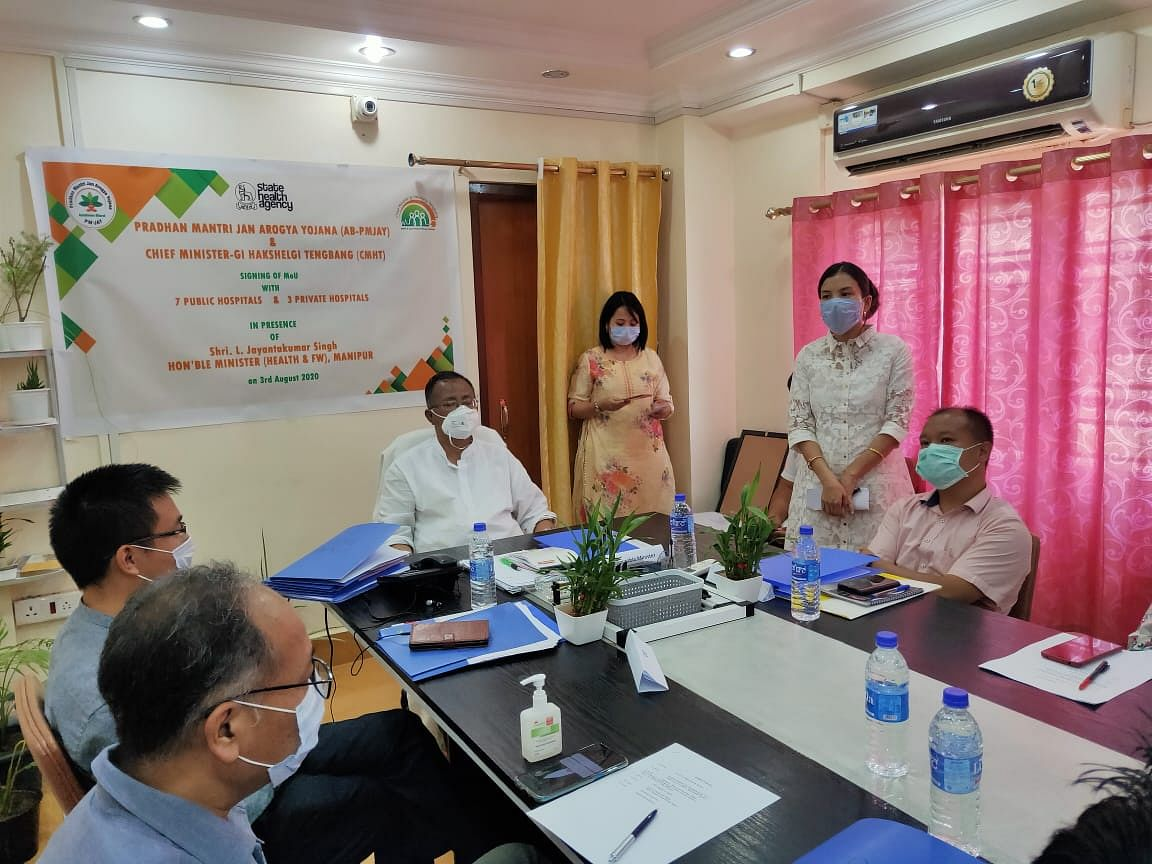 9 new empanelled hospitals in Manipur signed MoU on Monday