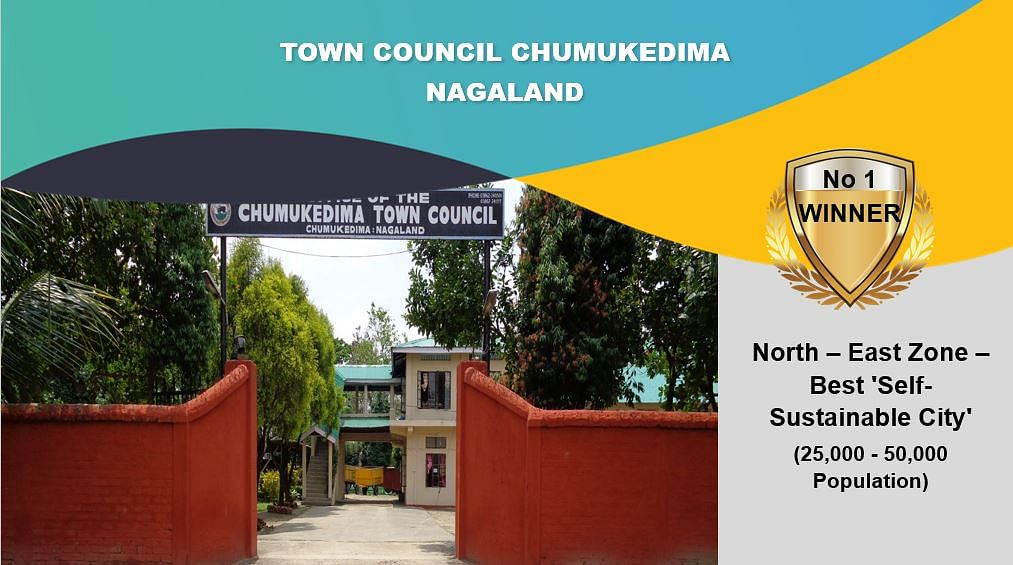 Town council Chumoukedima awarded North-east-zone best self sustainable city (below 25,000-50,000)