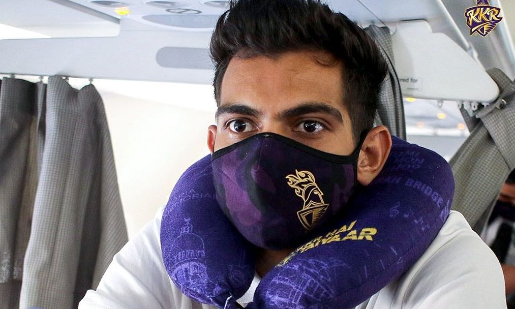 KKR players en route to the UAE