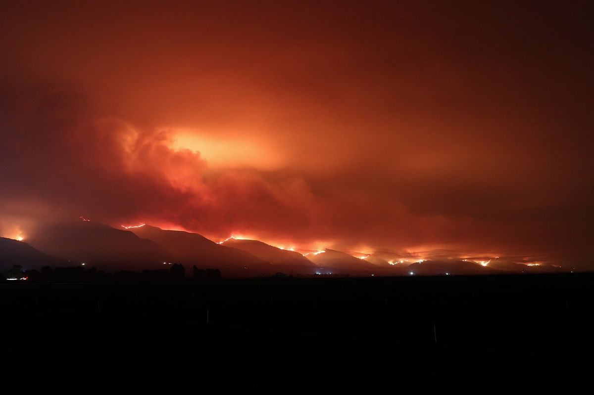The wildfires occurred due to the lightning strikes