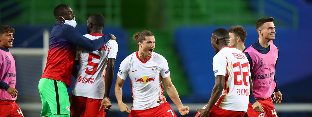 RB Leipzig reached their first Champions League semi-finals after beating Atletico Madrid 2-1 in Lisbon on Thursday