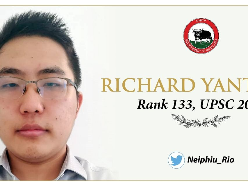 Naga lad Richard Yanthan secures 133rd rank in UPSC exam 2019