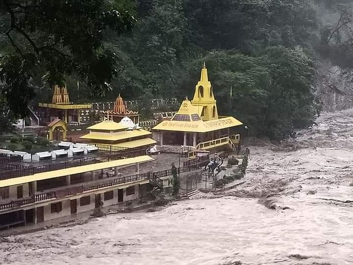 IN PHOTOS: Sikkim's Kirateshwar Mahadev Temple bears the brunt of rising river levels